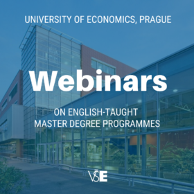 Webinars on English-taught master degree programmes at VŠE