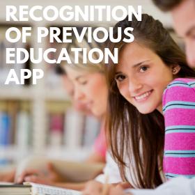 Recognition of previous eduaction app